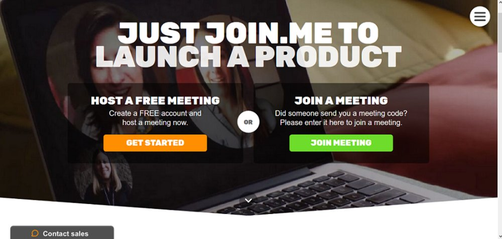One-click launch from desktop or web browser makes Join.me easy to start using.