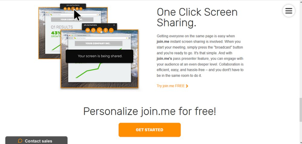 Screen sharing is simple in Join.me. You can show the audience what you see on your screen, making for more engaging and clear presentations.