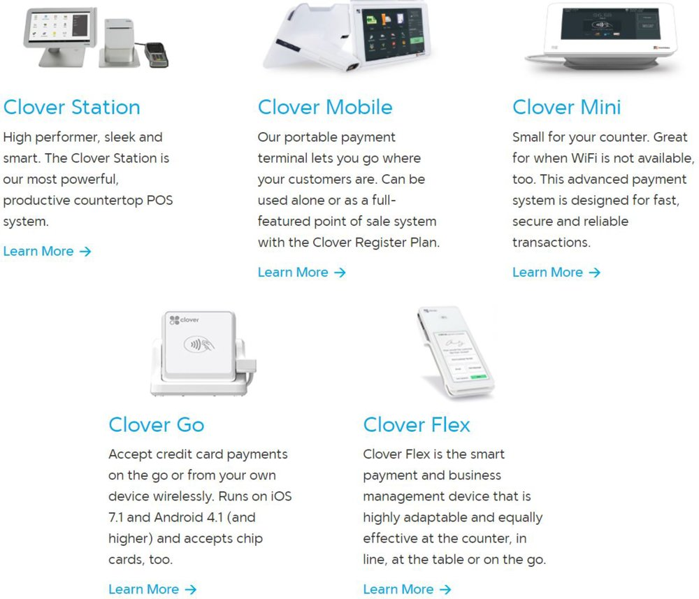 First Data offers its Clover processing equipment to small business merchants. It's always better to purchase equipment, as leases are noncancelable and more expensive over time.