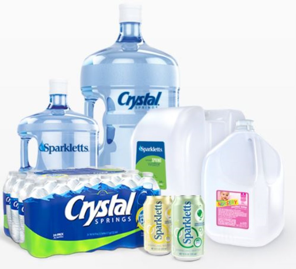 e0ff687caa You have your pick of a variety of water brands, including Crystal Springs  and Sparkletts