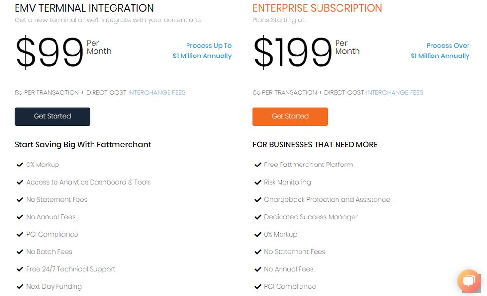 Fattmerchant offers different pricing plans depending on the needs and size of different businesses.