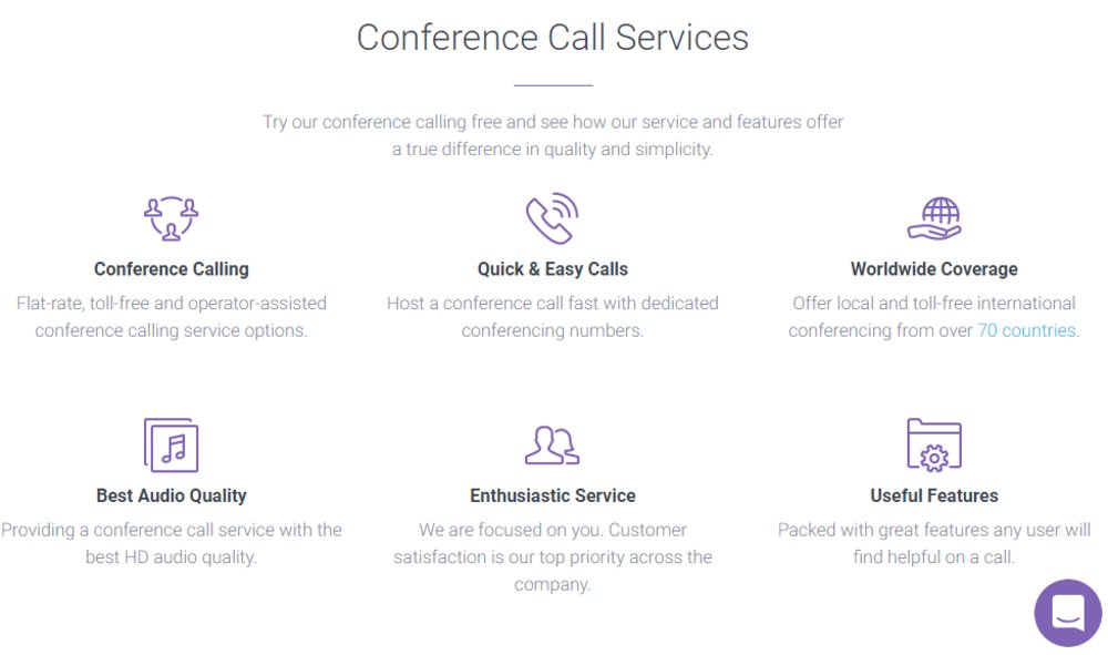 Conference Calling covers conferencing in over 70 countries, including China, France and Germany.