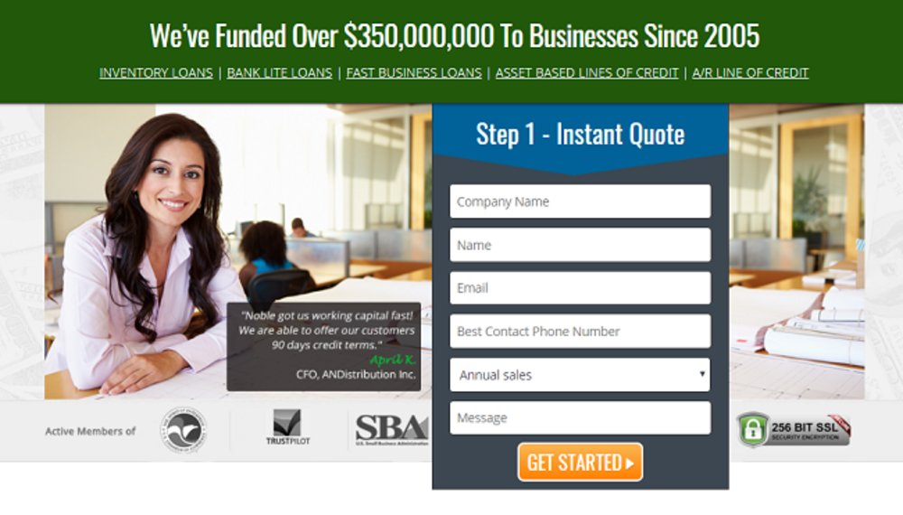 The homepage starts visitors off with a chance to get an instant quote.