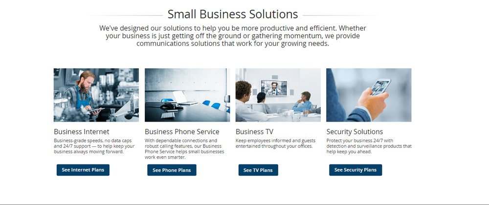 For additional cost savings, small businesses can bundle their internet with Cox's other services, including business phone, television or security.