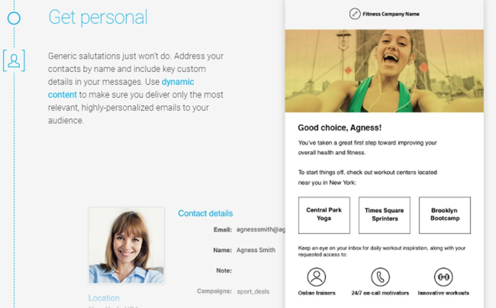 Messages can be customized for different recipients.
