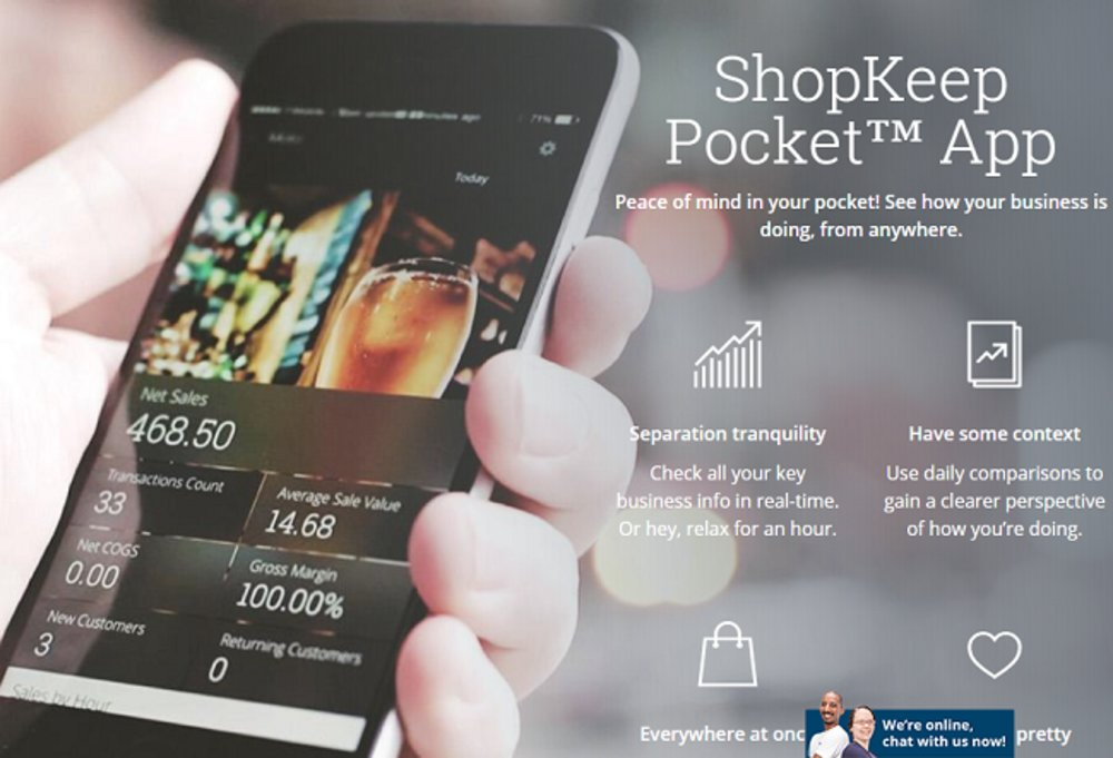This POS software has a companion app, ShopKeep Pocket, that you can use to keep tabs on your business's sales, no matter where you are.