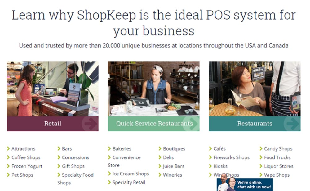 ShopKeep is suitable for many types of retailers and restaurants.