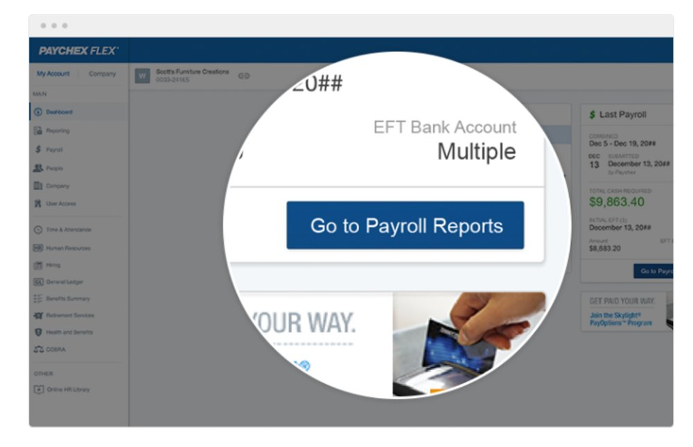 Paychex offers more than 160 payroll-related reports. You can customize data based on employee information, date ranges, available benefits and other criteria.