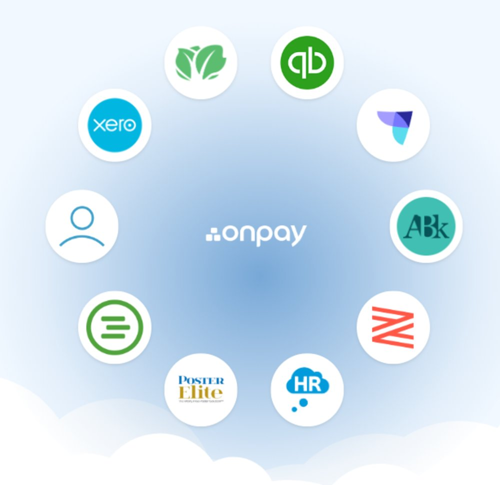 OnPay integrates with a number of popular programs and services that many small businesses already use. Integrations include QuickBooks Online, Xero, Kabbage, When I Work, Humanity, America's Best 401k, Guideline, Zenefits, ThinkHR and PosterElite.
