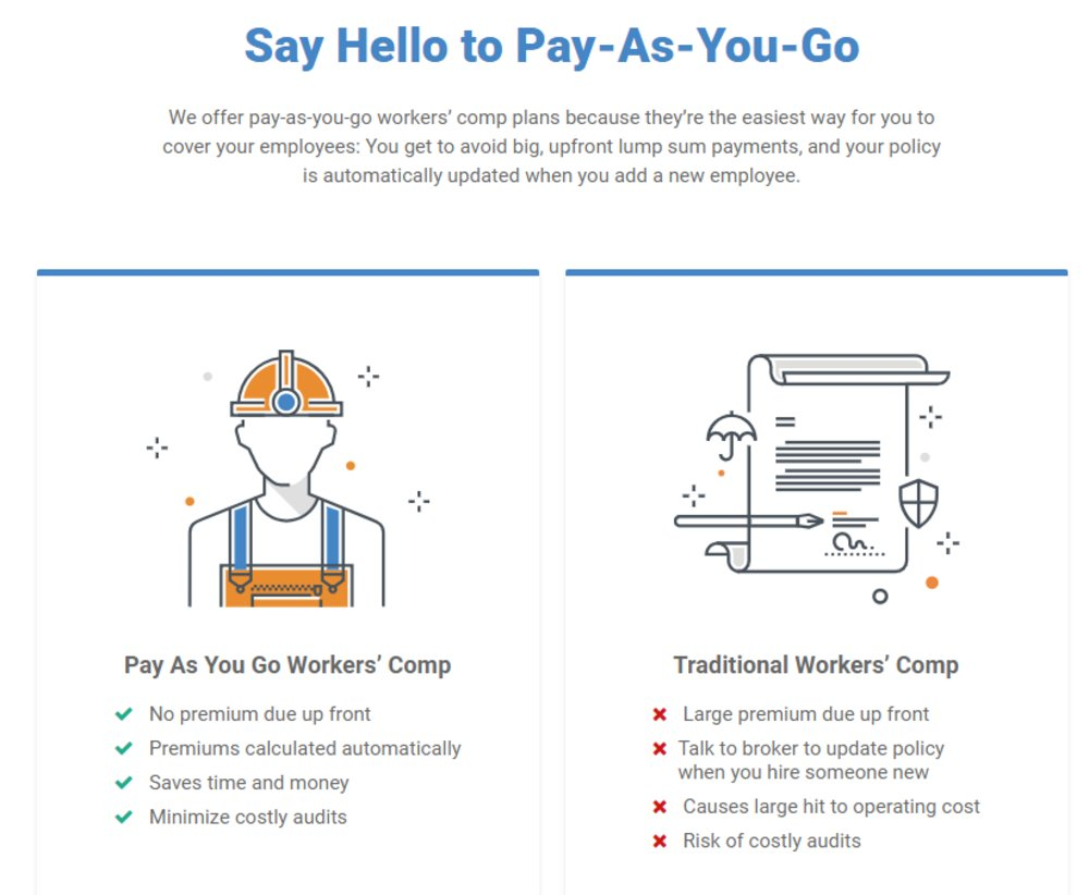 OnPay offers a selection of other services, including workers' compensation insurance. One nice benefit of OnPay's worker comp plans is that you don't have to pay lump-sum premiums upfront.