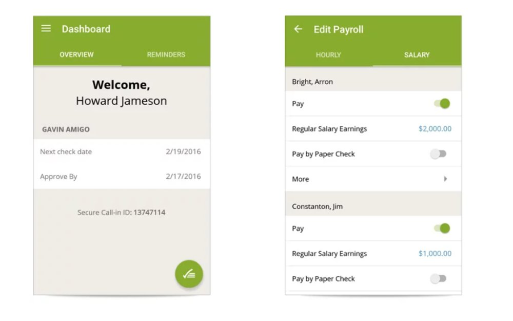 SurePayroll offers a mobile app (iOS and Android), so you can quickly input and edit payroll from your smartphone.