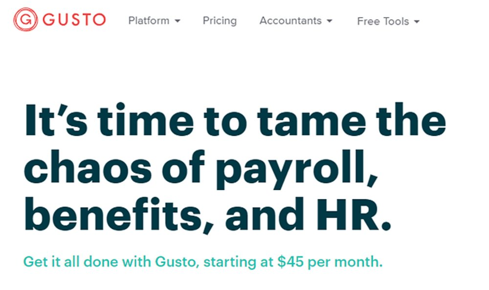 Gusto is the payroll service we recommend for S corporation and sole proprietorships. It can handle paying full and part-time employees, plus freelancers and 1099 contractors.
