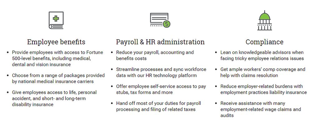 Insperity's full-service HR solution includes health insurance, payroll, benefits and government compliance.