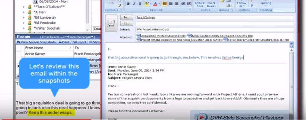 Investigating specific phrases in emails is simple using this software.