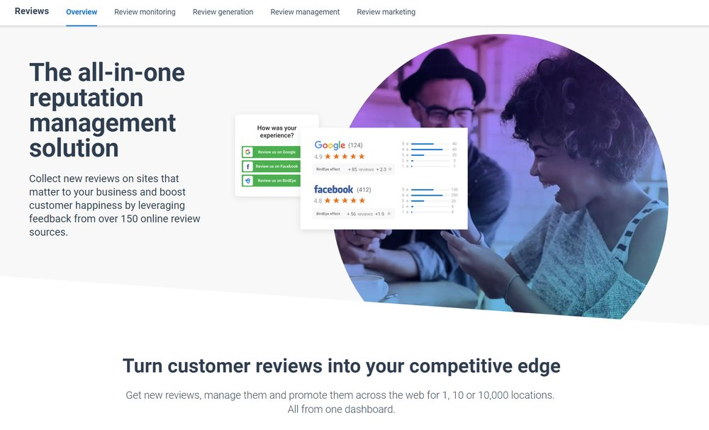 BirdEye provides numerous ways for you to collect reviews from customers, all managed via its reputation management platform.