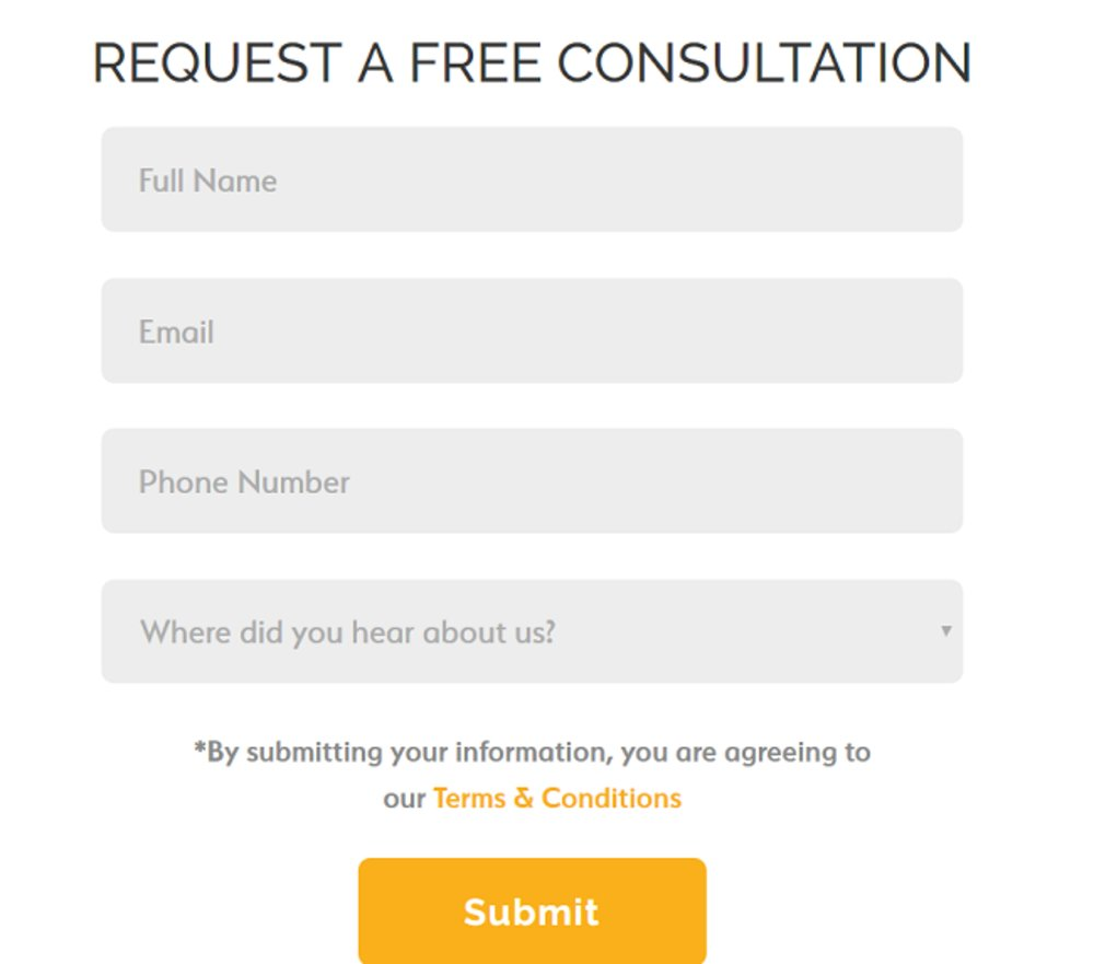 If you want to learn more about the business, it's easy to request a free consultation on the website.