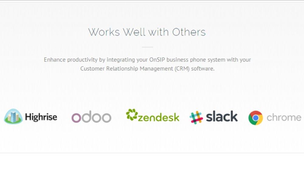 OnSIP integrates with many other platforms, including Slack.
