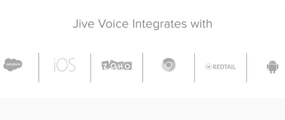 Jive integrates with several different name-brand platforms.