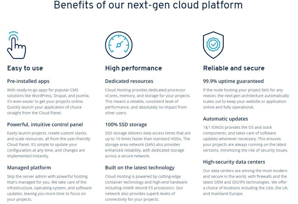1&1 Hosting Review 2019 | Web Hosting and Cloud Service Reviews