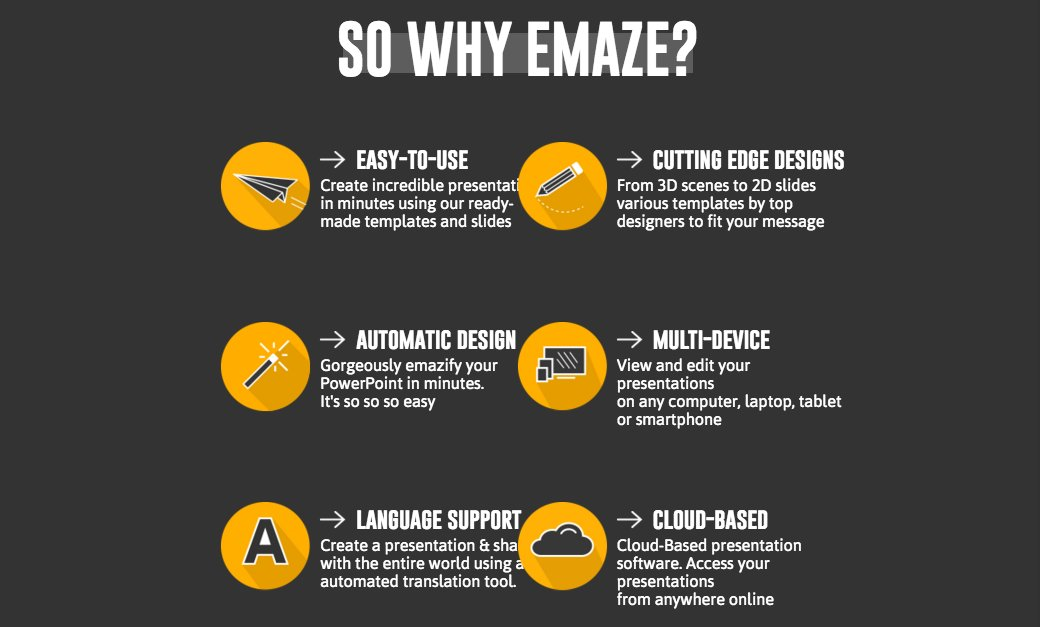So Why emaze slide explaining what services they offer