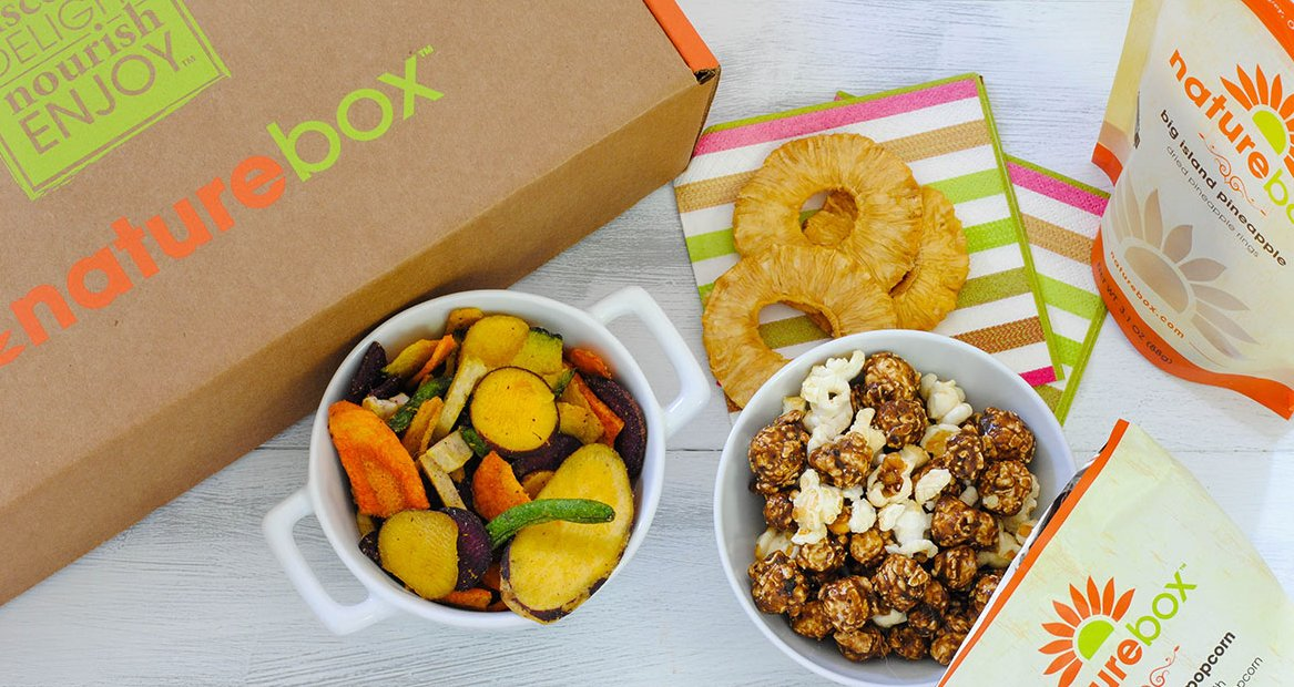 Naturebox's super bright print on recycled corrugated boxes