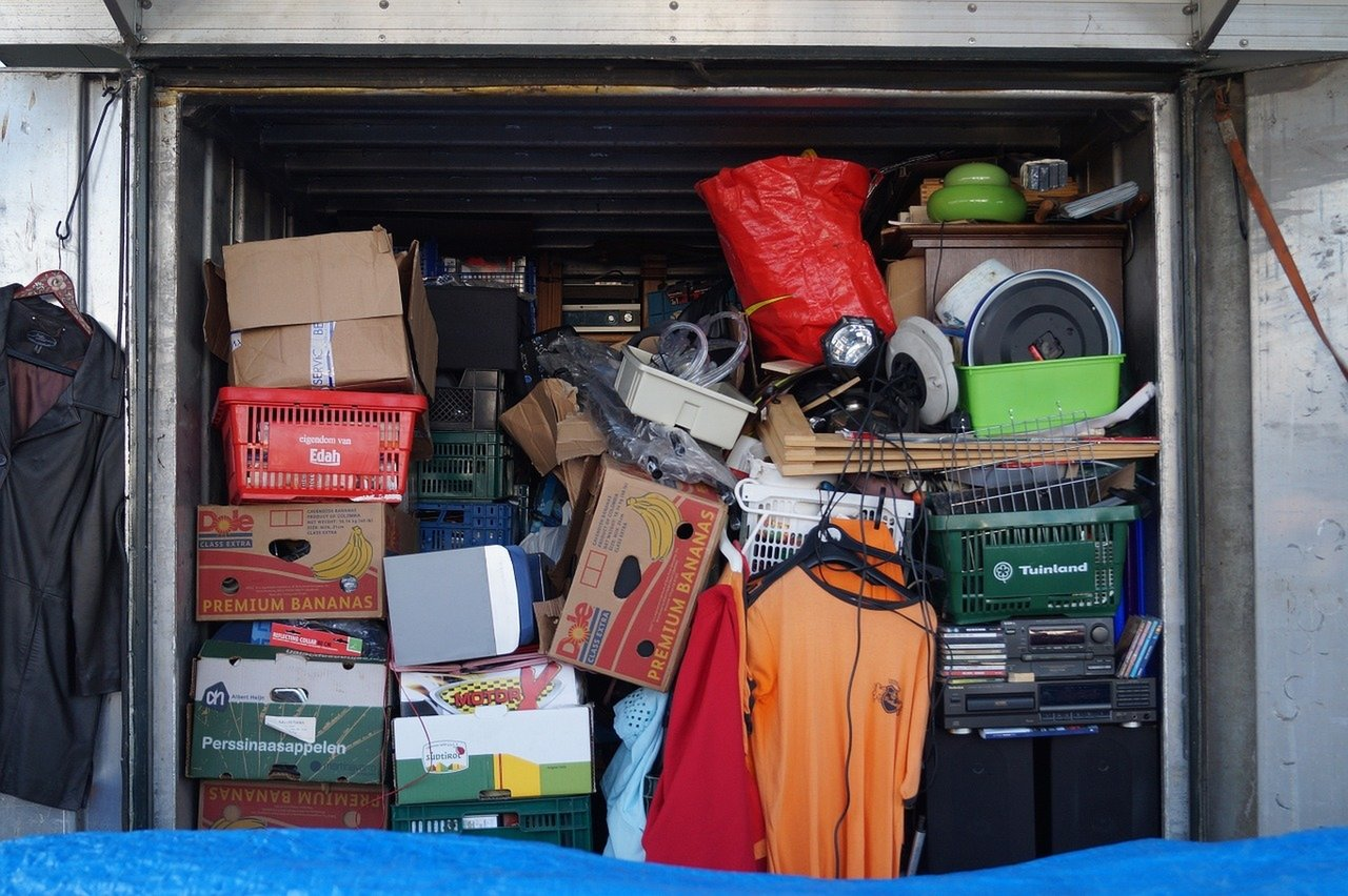 Picture of a packed self-storage unit