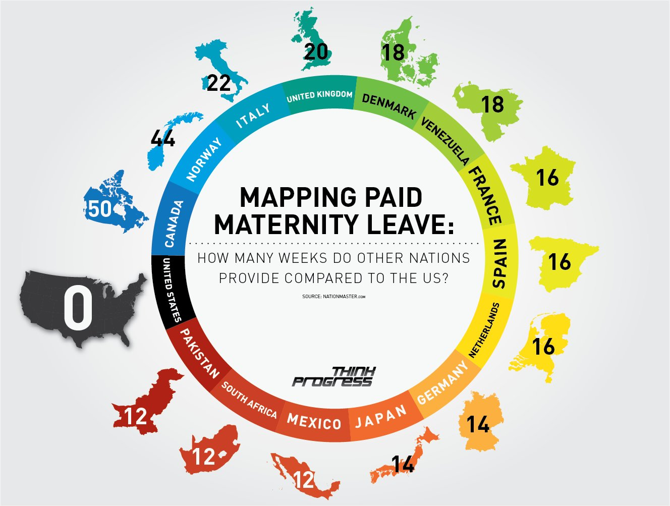 Mapping Paid Maternity Leave Worldwide