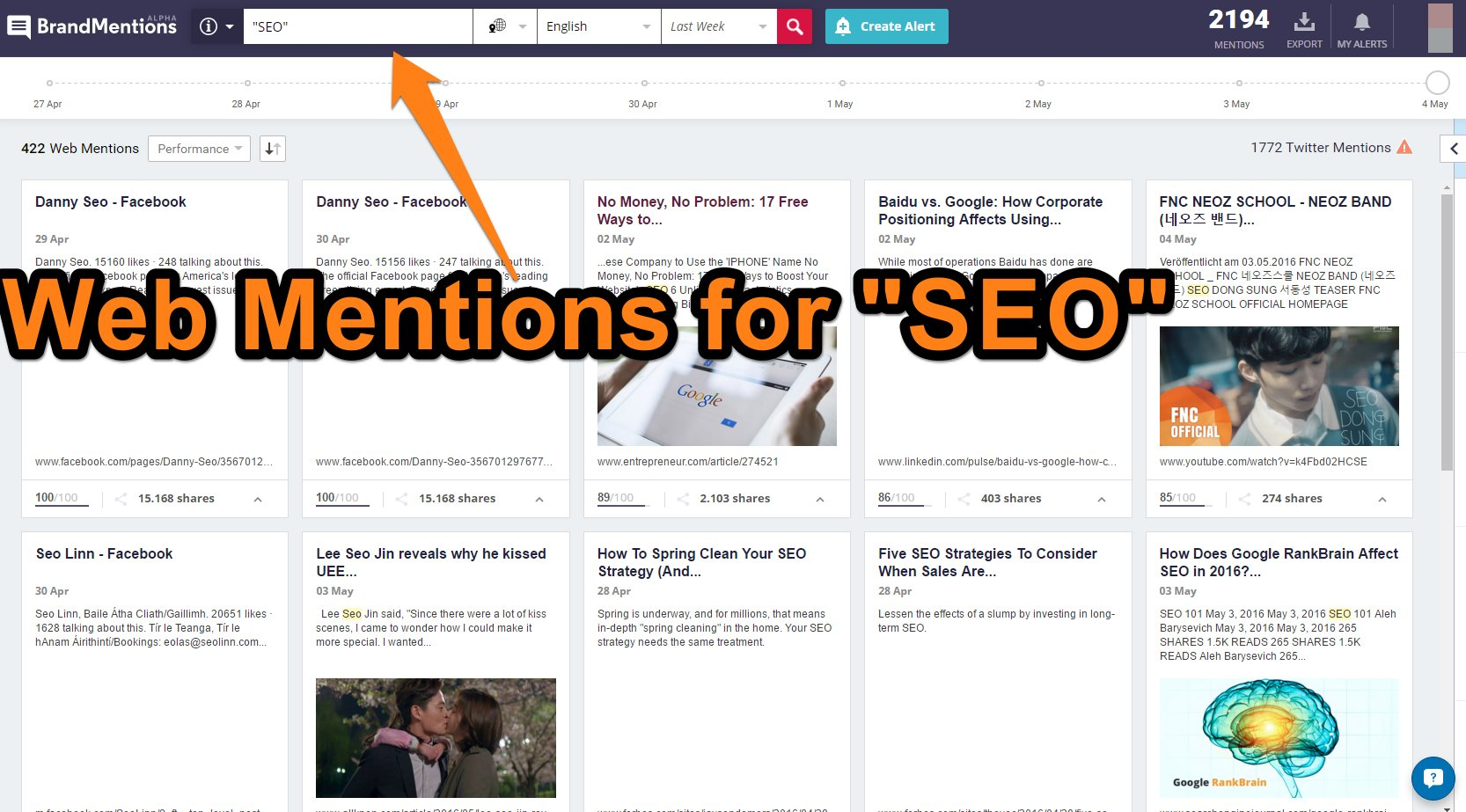 Web Mentions for SEO screen shot