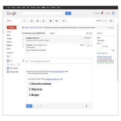 Genius Project image: This application directly integrates with Google products such as Gmail and Google Docs.