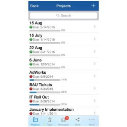 ProjectManager.com image: The mobile version has a clean interface, and our test users found it simple to use.