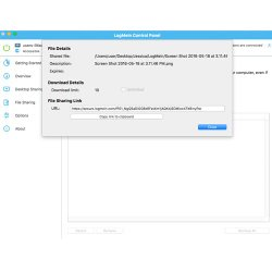 LogMeIn image: Whether you use the file manager or drag-and-drop documents, you can easily share files with other users.