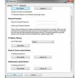 LogMeIn image: This software offers strong security options to help protect your remote sessions.