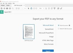 Adobe Acrobat image: You can use this software to convert files into PDFs or export files in a different format.