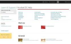 Adobe Acrobat image: You can access the software's knowledgebase on the Adobe website. It features tutorials, forums and a variety of other resources.