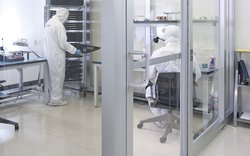 SalvageData uses ISO 5 Class 100 cleanrooms for its hard drive recovery process.