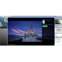 MegaMeeting image: You can stream videos and size them to fit the presentation.