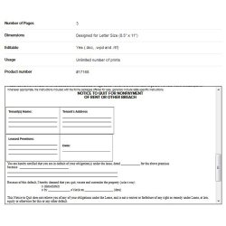 FindLegalForms image: This is a sample eviction notice.