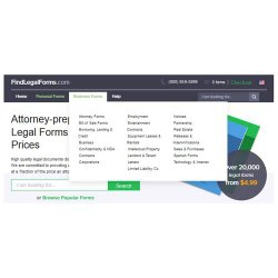FindLegalForms image: This service has many business and personal forms to choose from.