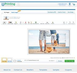UPrinting image: The online design tool is straightforward, making it easy to design your business card.