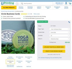 UPrinting image: After you select which shape you want your business cards to be, you can decide paper type and quantity.