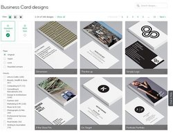 Moo image: This service has a large selection of business cards for almost any industry.