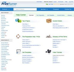 PrintRunner image: The Help Center has a variety of resources to help you design and order business cards with ease.