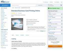 PrintRunner image: You can easily select the size, style, color and paper type you want for your business cards.