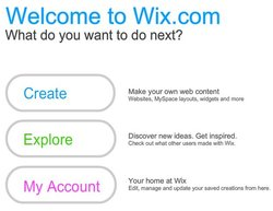 This image shows one of the first pages you see when you get a Wix Premium account. This gets the program off to a great start.
