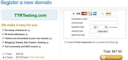 This image of the Weebly Pro site shows you how you can register a new domain.