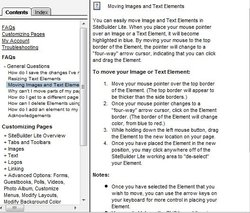 This image displays the area where you can switch between editing pages in Intuit Web Builder.