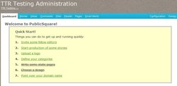 This image shows the starting page of PublicSquare where they help let you know what you need to do.