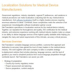 Net-Translators image: Medical device documentation is another translation specialty.
