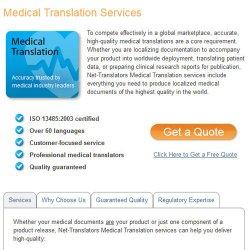 Net-Translators image: The agency also offers Medical translation.