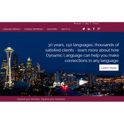 Dynamic Language image: An impressive 150 plus languages are offered.